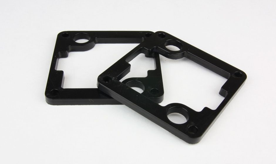 Laser cutting of a technical plastic cut with laser - Dalrin (POM) 5 mm thick
