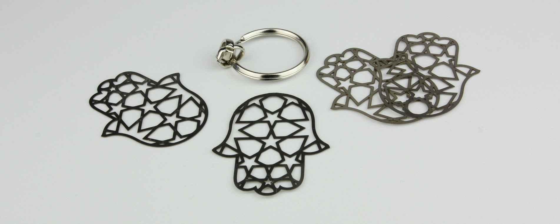 Laser cutting of stainless steel - artistic elements