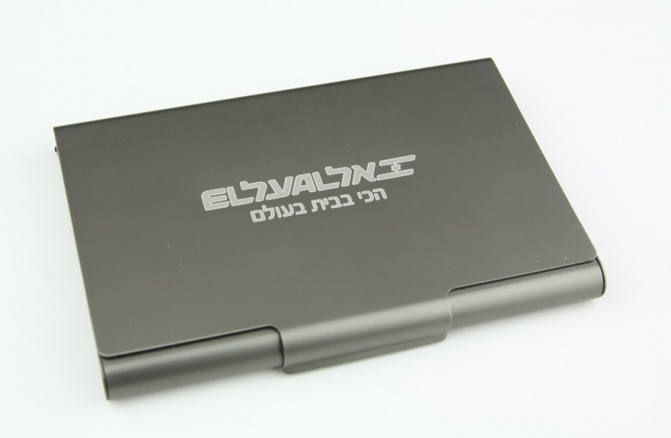 Laser Engraving of logo on aluminum case with anodized coating - branding products