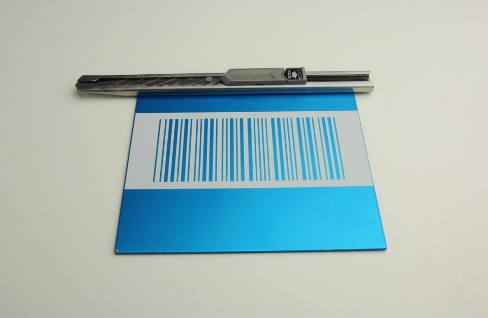 Laser Engraving of barcode on anodized aluminum