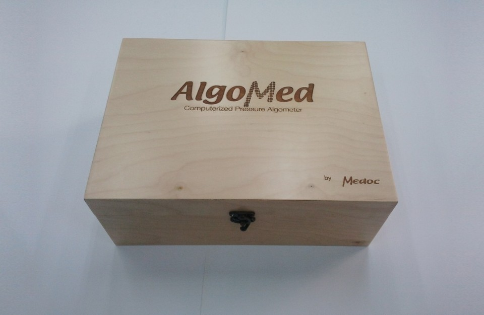 branding wood box with a company logo - marking using Laser technology