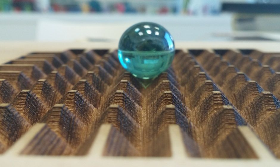 Deep Laser engraving creates three-dimensional structure in maple wood